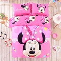 Pink Minnie Mouse duvet cover set invierno edredón portada sábana Almohada 4 unid bedding set full Twin queen king size ropa de cama