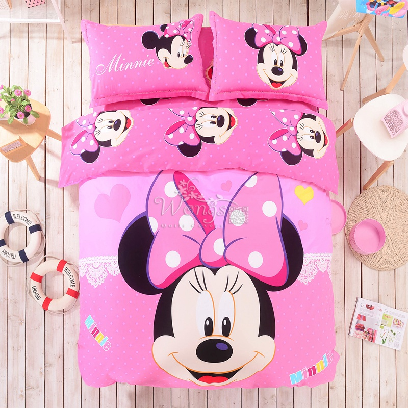 Minnie Mouse Twin Bed Set. Great Pink Blue Stripe Minnie Mouse ...