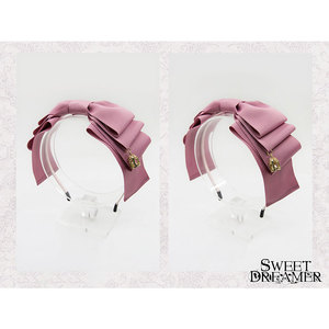 Image 4 - Sweet Layered Bow Lolita Hairband Ribbon Headpiece With Cage Pendant by SweetDreamer