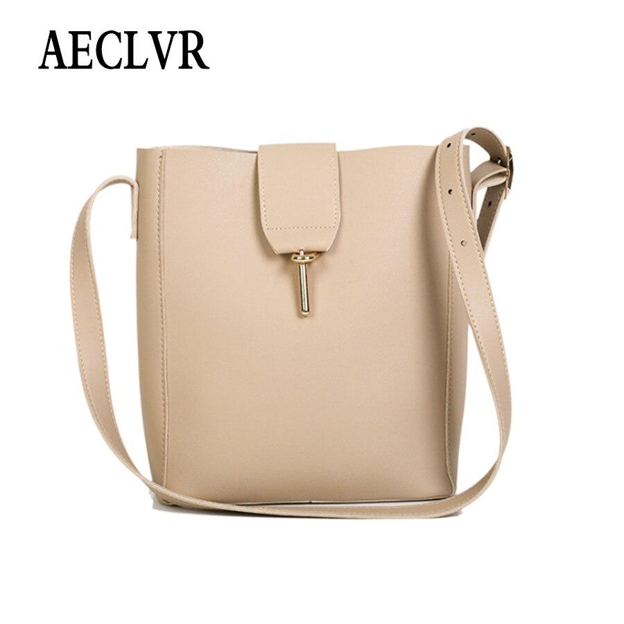 851f13922858 AECLVR одноцветное Цвет искусственная кожа ковша Для женщин простой Стиль  мягкая сумка + кошелек модные Универсальные