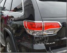 ABS chrome headlights tailligh tail lamp frame trim cover exterior mouding Car Accessories for jeep grand cherokee SRT 2014 2015