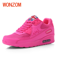 WONZOM 2018 Spring New Fashion Women Breathable Casual Shoes Platform Height Increasing Vulcanize Shoes For Female
