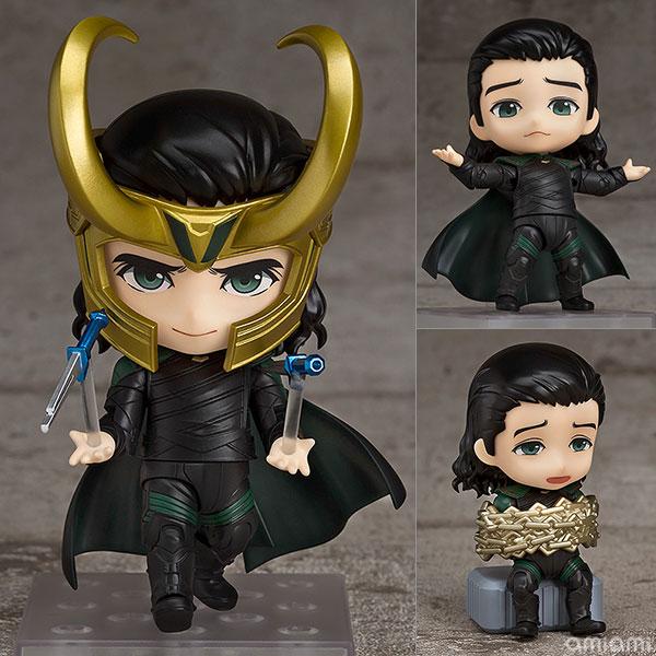 Nendoroid Mini Action Figure – Anime Avengers Loki in Movie Thor  866  Kawaii Super Hero 10cm