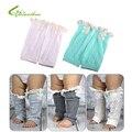 1 Par Nuevo Soft Winter Warm Niños Niñas Bebé de Moda de Punto Calentadores de encaje Bebés Ajuste de Arranque Puños Calcetines Rodilla