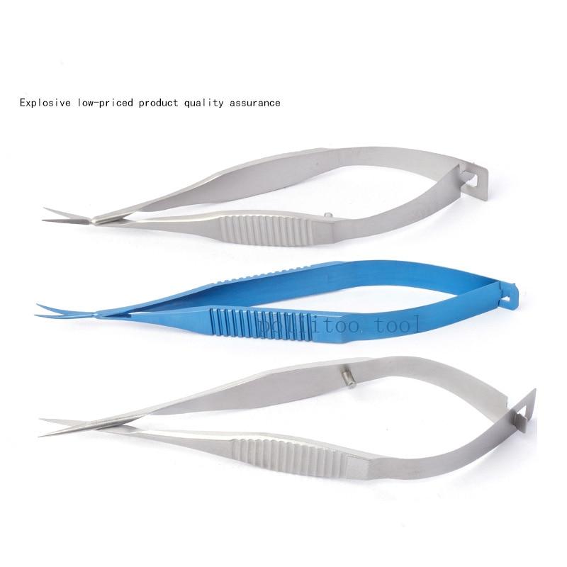 Microscopic Instruments 8.5cm Micro Scissors Inner Barrier Cut Quality Titanium Alloy Scissors Hand Membranous Envelo