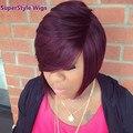 Короткие Вьющиеся Синтетический Термостойкое Волокно Красный Парик Волос Для Черных Женщин Вьющиеся Синтетические Парики Бесплатная Доставка