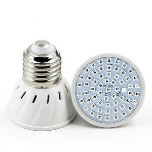 220V 110V LED أضواء للمساعدة على نمو النباتات E27 E14 MR16 GU10 تزايد المصباح الكهربي 60 المصابيح 80 المصابيح نمو مصابيح الطيف الكامل للداخلية حديقة