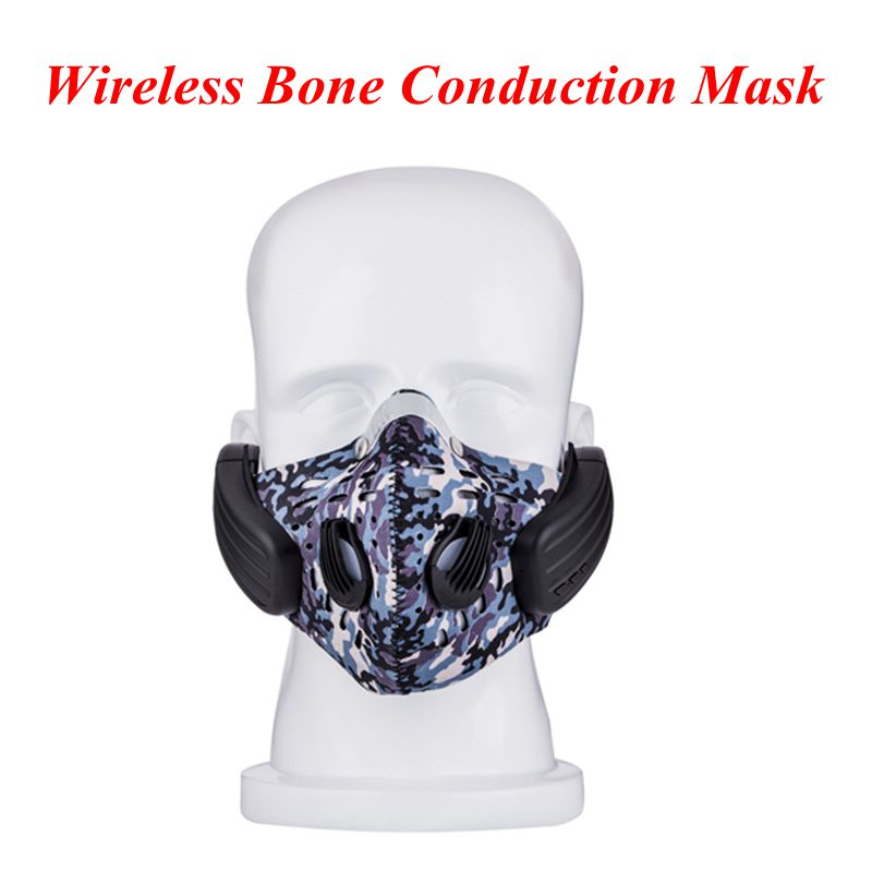 New arrival Wireless Bluetooth4.0 Headphone with Mic face Mask Stereo Music Handfree Headset for Outdoor Exercise PK SE215 SE235 wireless bluetooth earphone with mic face mask anti dust stereo music handfree headset bone conduction headphone for ios android