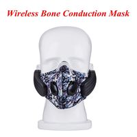 New arrival Wireless Bluetooth4.0 Headphone with Mic face Mask Stereo Music Handfree Headset for Outdoor Exercise PK SE215 SE235