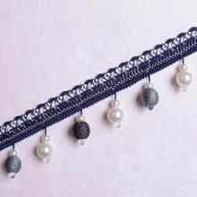 12 mètres/lot de franges perlées garniture de glands rideau de haute qualité Borlas décoratifs Flecos Y Borlas Y Pasamanerias Frange A Coudre