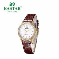 Eastar Zifferblatt Stahl Armband Armband Männliche Armbanduhr Uhr Business Armbanduhr Luxus Diamant Uhr Damenmode Leder Marke-in Partneruhren aus Uhren bei