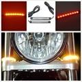 2PCS 12V Universal LED Car Motorcycle Tail Brake Lights Turn Signal Light Strip 17 Leds License Plate Light Flashing Stop Lights