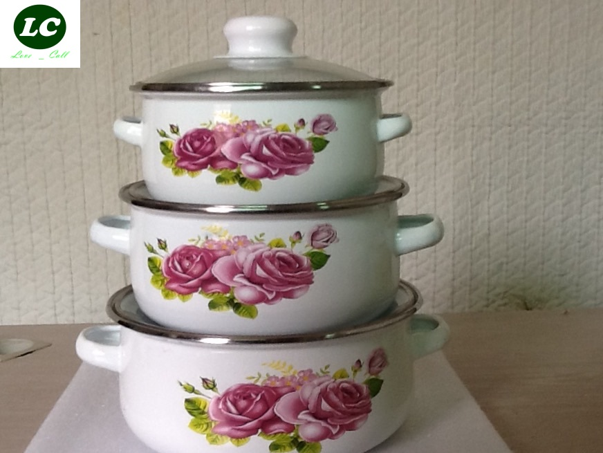 Livraison gratuite casseroles set 1-2 litre ustensile de cuisine 16/18/20 cm outils de cuisson casseroles en émail
