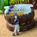 3Win Luz Natural Ágata Pulseira de Miçangas Original Handmade Mulheres Elegantes 4 Camadas Ágata Beads 108 Bead Mala Pulseira/Colares