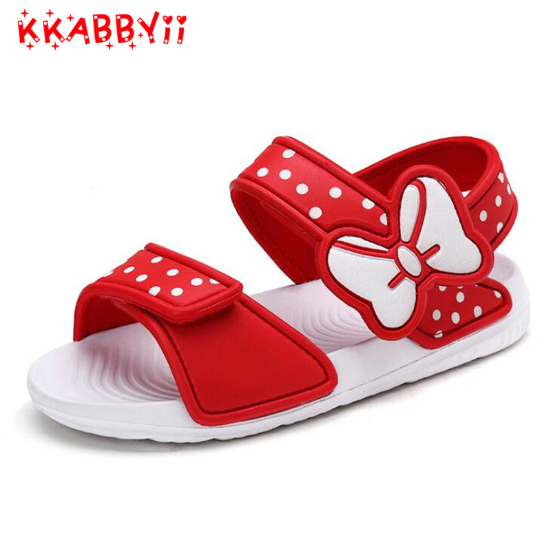 Children Beach Sandals 2018 New Summer Cartoon Baby Waterproof Sandals for Girls Boys Beach Shoes Indoor Anti-Slip Slippers