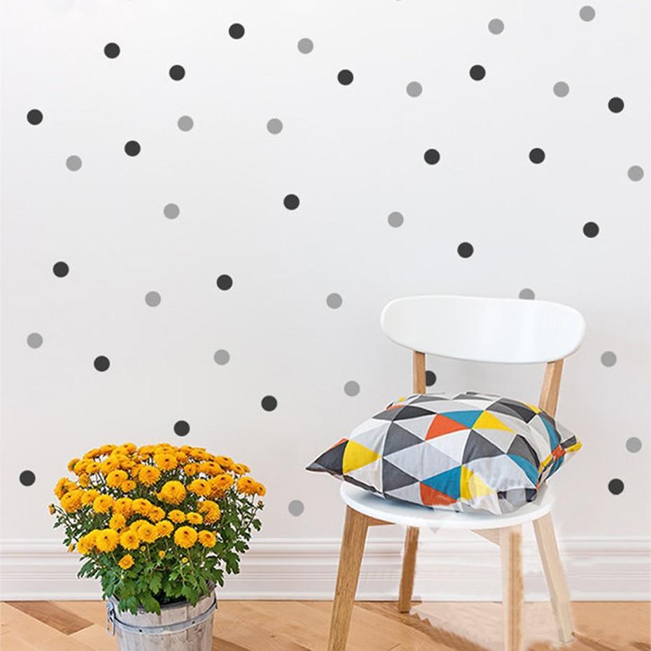 Polka Dots Wall Decal Removable 140 Small Polka Dots DIY Nursery Kids Wall Art Decoration baby Kids Room Home Decor 1 inch dots
