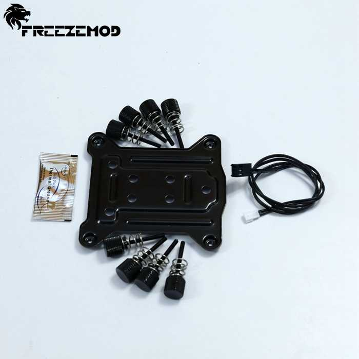 Freezemod CPU water cooling block with built-in digital thermometer. UPR-2018