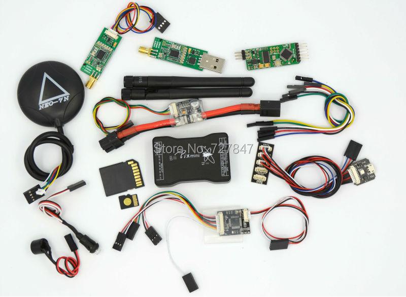 Mini Pixhawk Flight Control 32bit Pixhawk2.4.6 w/SD Card /Safety Switch/Buzzer/RGB/PPM/I2C/PM/ 7N GPS /OSD /433 Telemetry pixhawk px4 uav flight control suite m8n gps digital osd 3 w led