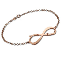 Infinity Name Bracelet Personalized Name Bracelet Rose Gold Infinity Symbol Customized Name Bracelet Gift For Her
