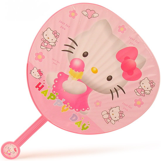 Hello Kitty Fan : Free shipping cartoon large hand fans summer cool tools