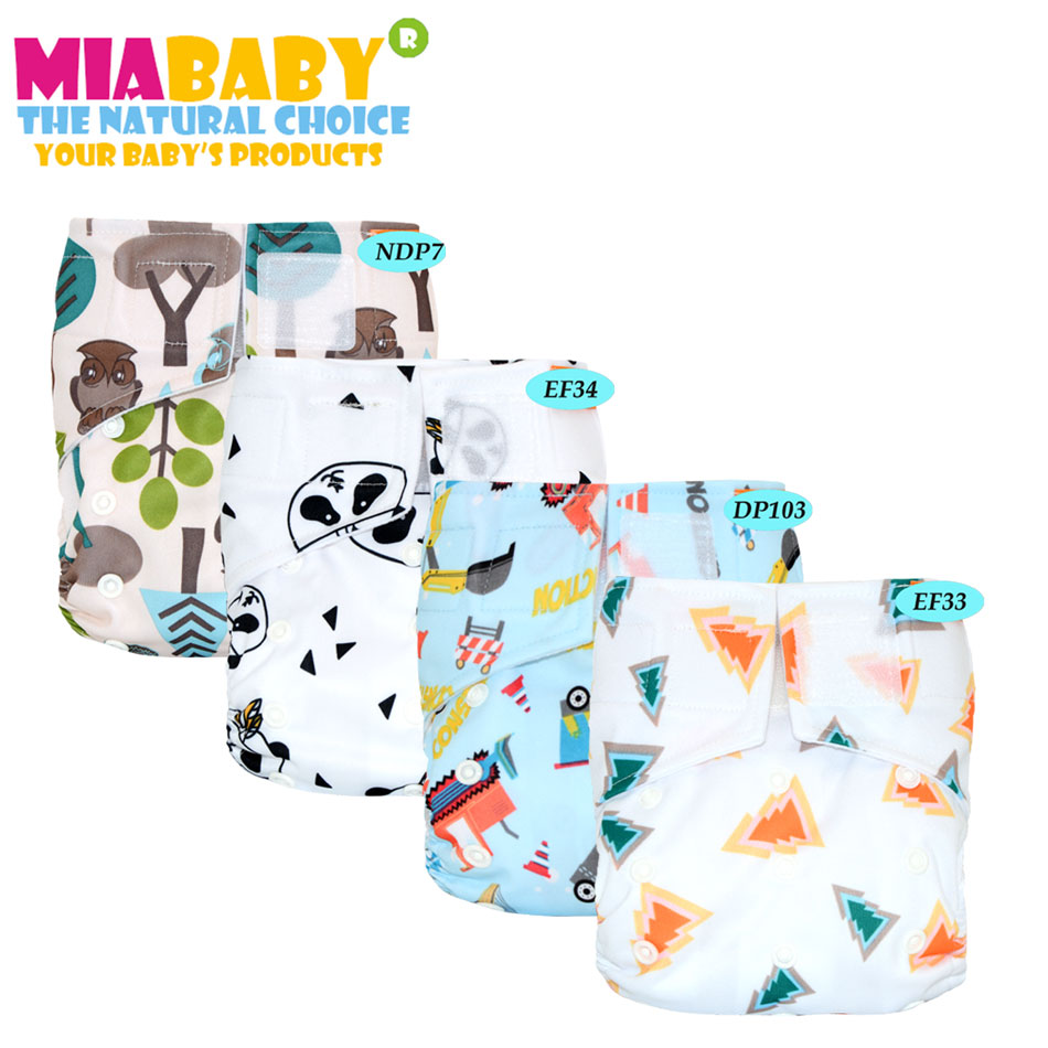 Miababy Hook&Loop OS Pocket Cloth Diaper,for 5-15 kg baby,waterproof breathable S M& L adjustable
