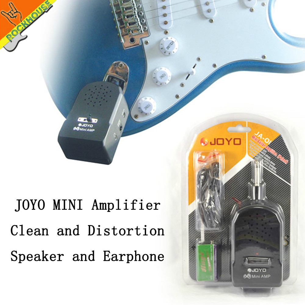 JOYO Mini Guitar AMP Portable Electric Guitar Amplifier Built-in Clean and Distortion effects 9V Battery or power Free shipping mini micro battery powered portable guitar amp classic marshall guitar portable and lightweight