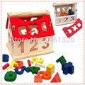 Tangram мини-дом из дерева головоломки развивающие игрушки для детей эрудит деревянная игрушка 3d головоломки мудрость дом головоломки