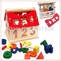 Tangram Mini House  wooden jigsaw puzzle educational toys for children scrabble wooden toy 3d jigsaw puzzle Wisdom House  puzzle