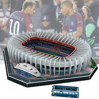 Klassische Jigsaw 3D Puzzle Architektur Stadio Frankreich Parc des Fürsten Fußball Stadien Spielzeug Modelle Sets Gebäude Papier
