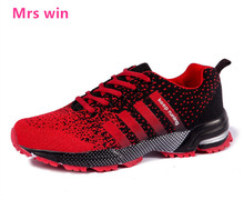 Men Sneakers Air Running Shoes for Men Athletic Fly Line Non-slip Breathable Stripe Trainers Walks Women Outdoor Sports