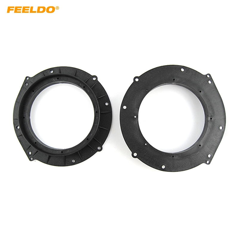 FEELDO 2 Pcs Auto Lautsprecher Spacer Matten für Audi A4L/A5/A6 Refit Ringe Spacer Ring Pad Adapter geändert Audio Installation Kits image