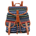 5 Color 2017 Bohemian Style Printing Linen Vintage Backpack Women Mochila Feminina Bagpack School Bags Drawstring Bag Sac A Dos