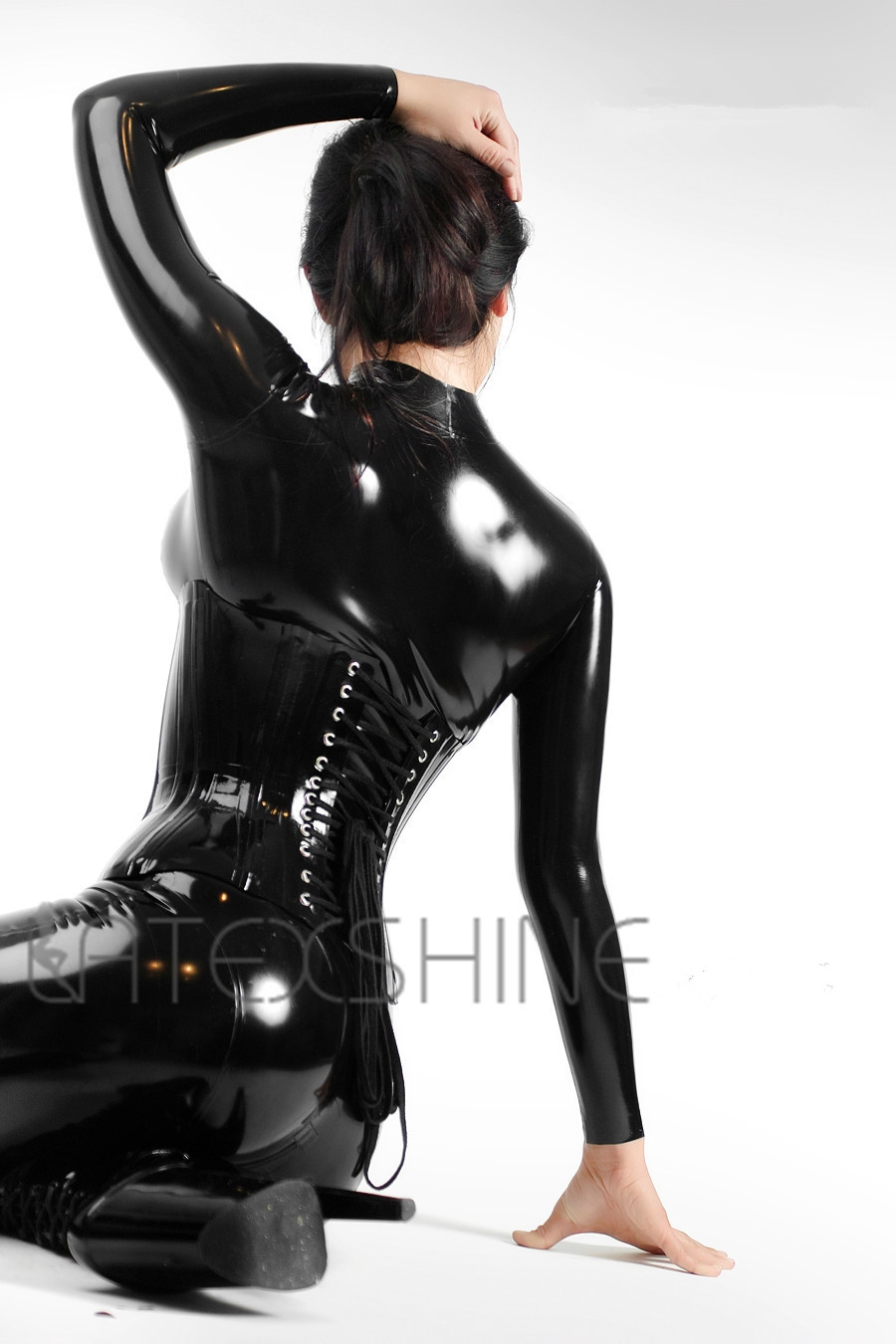 Black-Latex-Catsuit-Women-Full-Bodysuit-Leotard-Latex-Clothing-with-Black-Latex-Corset-4