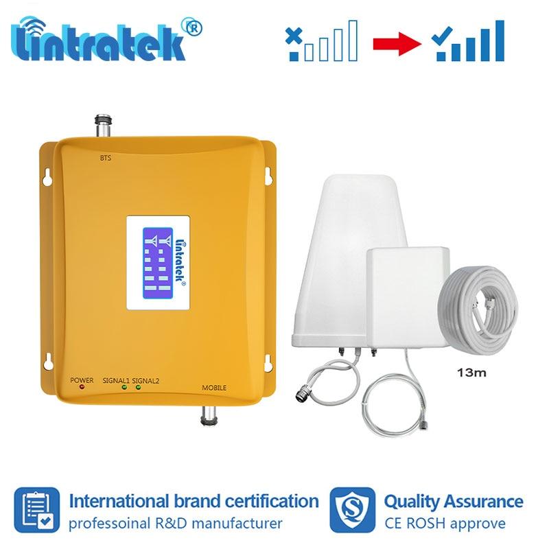 Amplificateur de Signal Lintratek 2G 3G celulaire 900 MHz 2100 MHz amplificateur de Signal de téléphone portable GSM UMTS répéteur MTS MegaFon Beeline s8-2