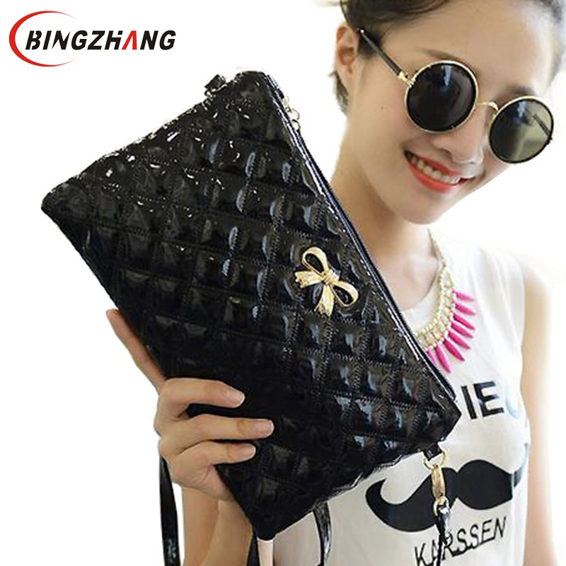 2017 New Handbag women clutch Shoulder Diagonal Three Purpose Butterfly Spiraea Lingge Bag bow clutch bag L4-698