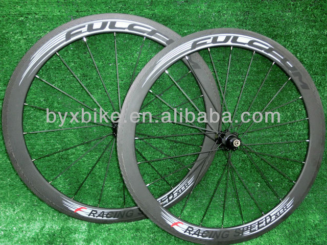 wholesale-FULCFUM RACING SPEED XLR  50mm carbon wheelset clincher/ tubular+novatec hub+spokes+skewer