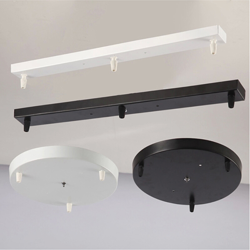 Chandeliers/Pendant lamp Base Plate Lighting Accessories Black/ White Round/Rectangular Ceiling Base Canopy Plate Lamps chassis
