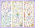 3 PACKS / LOT CARTOON sirena marina concha SEA STAR NAIL STICKER tatuajes etiqueta del agua del arte HOT307-309
