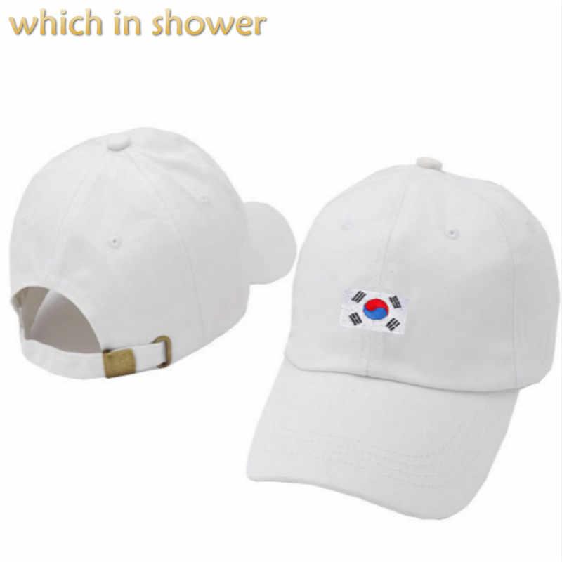 f9a48e3c997 Korea flag dad hat for women men adjustable cotton baseball cap hip hop  embroidery male snapback