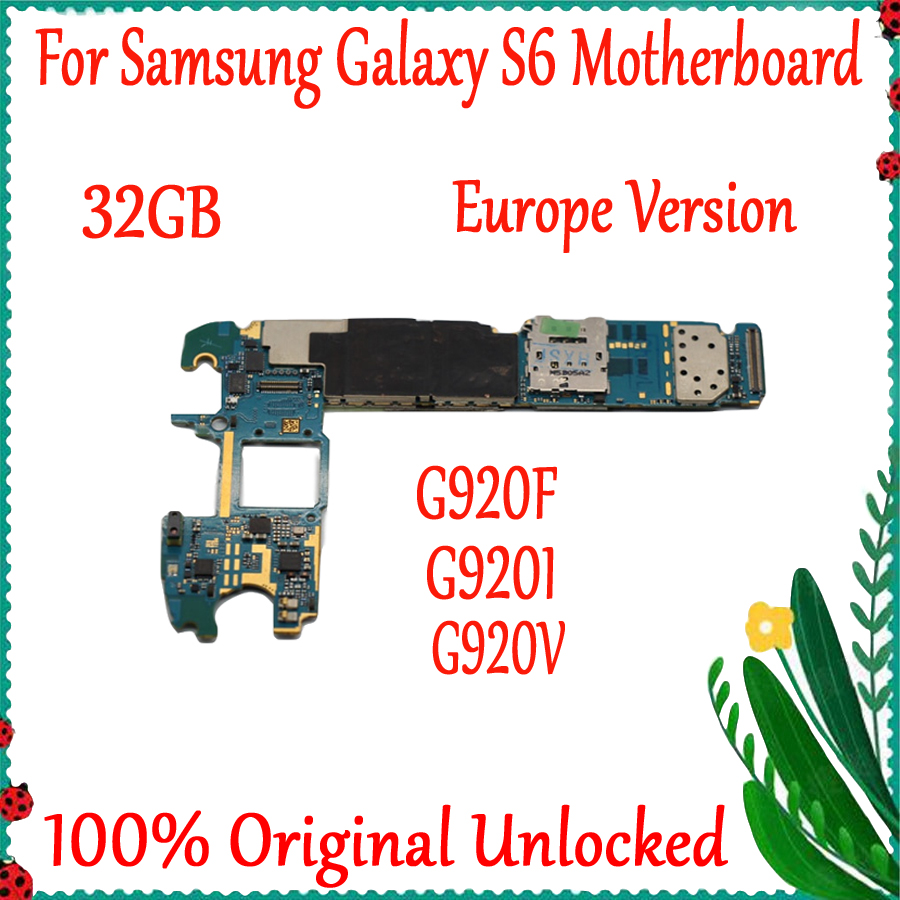 32gb Europa Version Für <font><b>Samsung</b></font> Galaxy <font><b>S6</b></font> G920F G920I G920V Motherboard Original Entsperrt Logic <font><b>Board</b></font> Mit Full Chips image