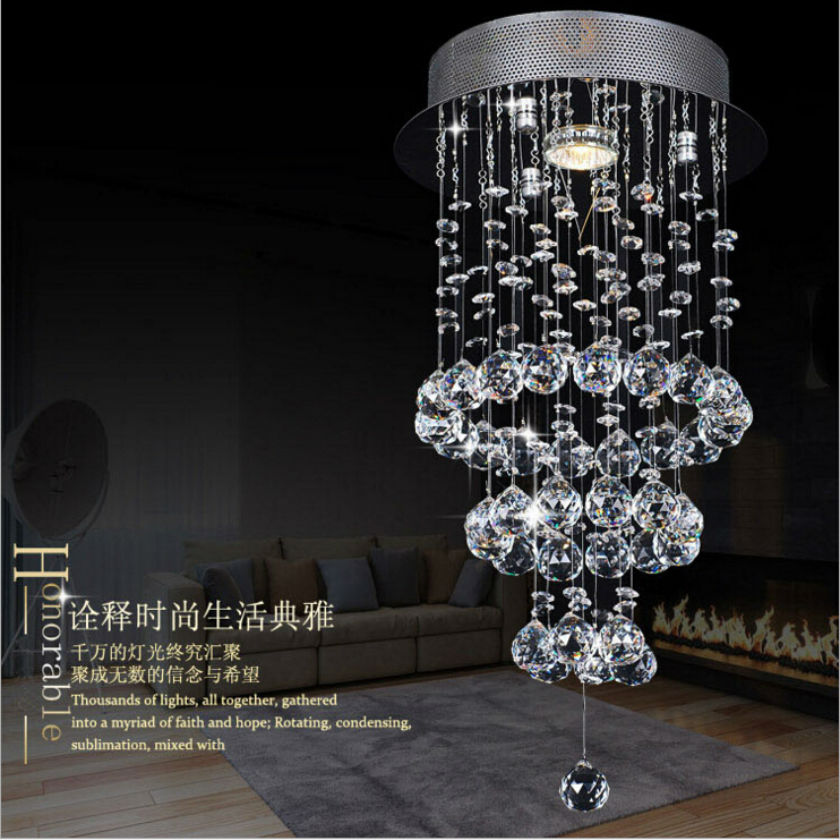 modern LED crystal chandelier lustre led chandeliers for dining room Staircase Stair long spiral k9 crystal chandeliers t best price modern lustre rectangular crystal chandeliers for dining room pandent lamp with led bulbs for entrance aisle