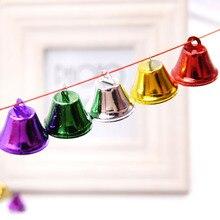 Горячая 10 шт. DIY Металл Творческий мини красочный маленький колокольчик музыкальные ударные инструменты кулон в форме колокольчика ремесла развлечения