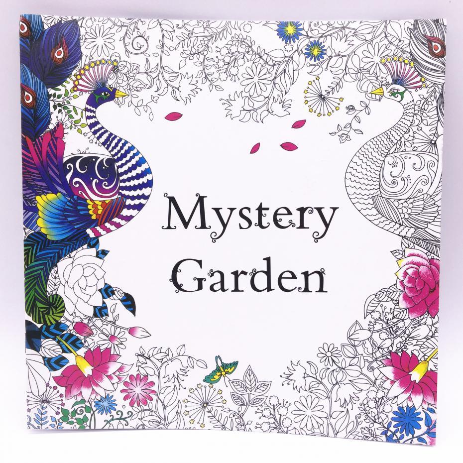 Coloring book untuk dewasa - Misteri Taman 1 Pcs 24 Halaman Warna Edisi Bahasa Inggris Buku Mewarnai Untuk Orang Dewasa Atau