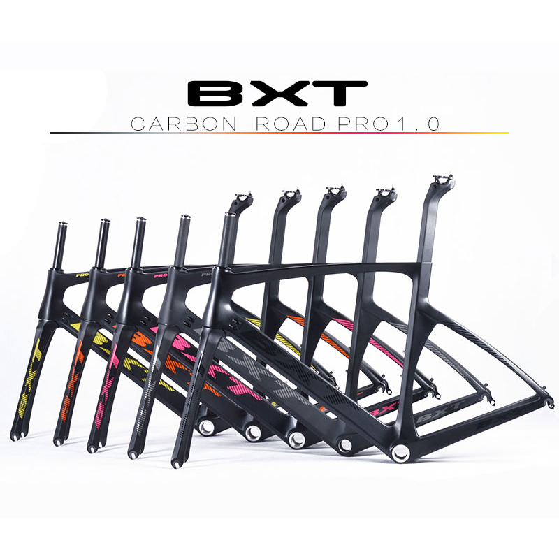Brand BXT 2016 carbon road bike frames racing bike frame super light aero design carbon road frame BSA cycling frameset 2018 carbon fiber road bike frames black matt clear coat china racing carbon bicycle frame cycling frameset bsa bb68