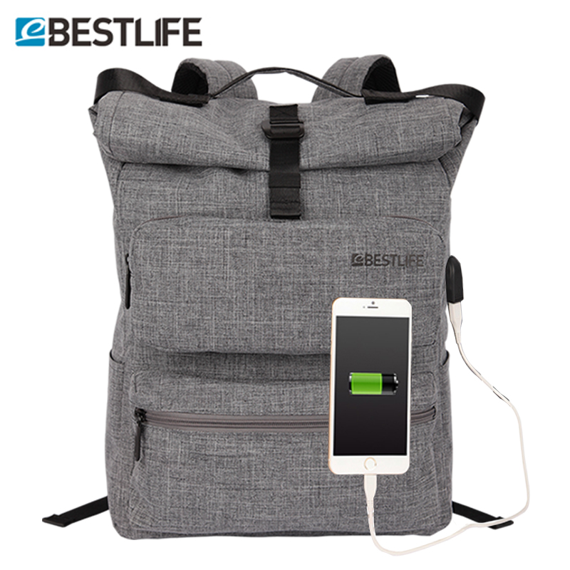 BESTLIFE Fashion Backpack External Usb Charge Men Women Laptop Backpacks Large Capacity Travel School/Bags/Bag Pack/sac a dos men backpack student school bag for teenager boys large capacity trip backpacks laptop backpack for 15 inches mochila masculina