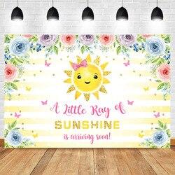 NeoBack Sunshine Baby Shower tło winylu słońce przybywa wkrótce tła