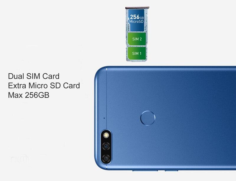 """Huawei Honor 7C ГБ 4 ГБ 32 Android 8,0 уход за кожей лица ID 5,99 """"полный вид экран 13MP двойной сзади камера мобильного телефона"""