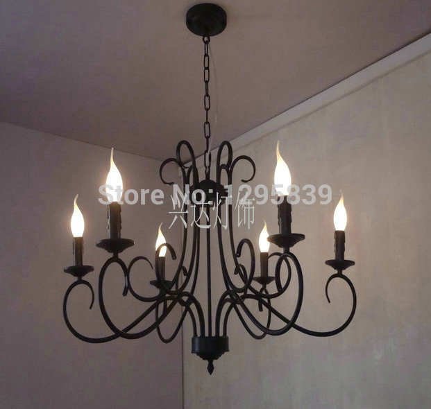 Multiple Chandelier lighting candle lamp lighting living room dining bedroom creative Mediterranean shipping ZX70 free shipping silk lantern lights ufo flat section of creative living room bedroom dining hall chandelier