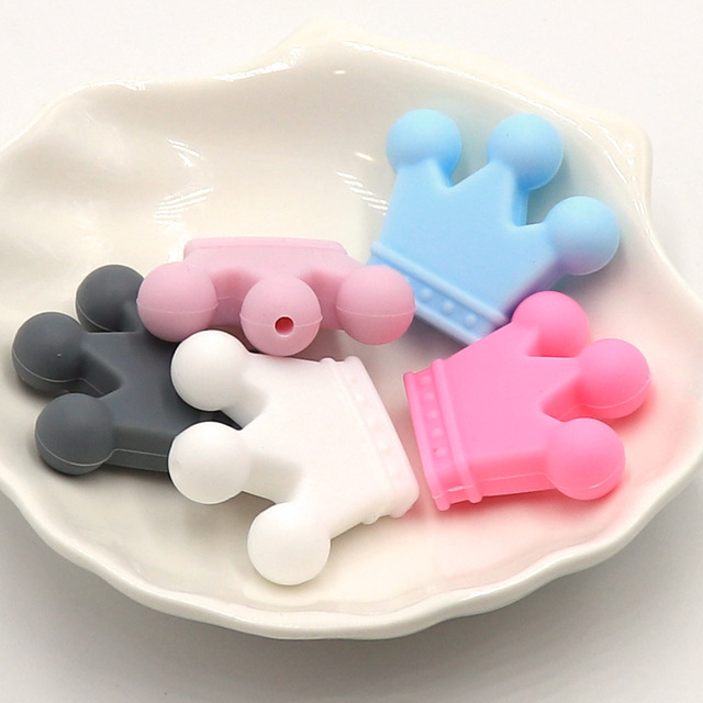 Crown Shaped Silicone Teethers
