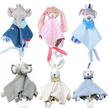 Детские мягкие игрушки в виде животных, успокаивающее полотенце, мягкая плюшевая комфортная игрушка, успокаивающее полотенце, успокаивающее полотенце, детские игрушки для сна, плюшевая игрушка